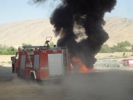 برگزاری مانور آتش نشانی در روز هفتم مهر روز آتش نشانی
