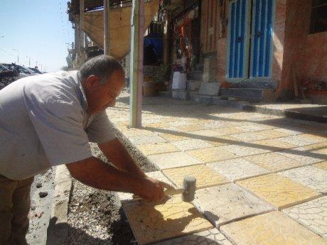 ترمیم موزائیک فرش پیاده رو خیابان امام (ره)