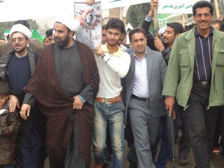 حضور شهردار ، اعضای شورا و پرسنل شهرداری پلدختر در راهپیمائی با شکوه 22 بهمن