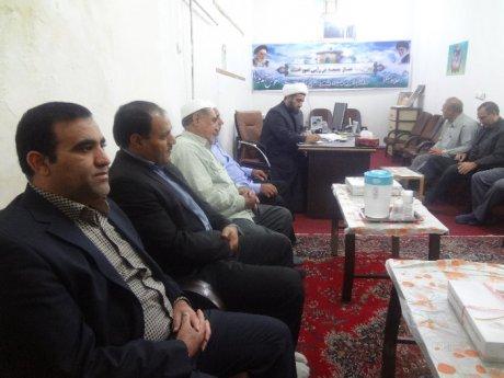 دیدار اعضای شورای اسلامی شهر و شهردار پلدختر با امام جمعه جدید شهرستان پلدختر