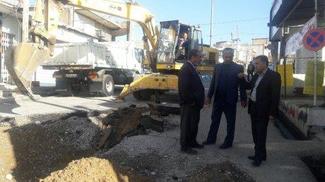 اقدام سریع شهرداری در خصوص ترمیم و بهسازی خیابان هفت تیر