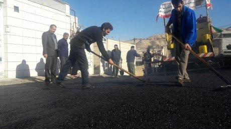 آسفالت کوچه های چمران منطقه کوی پاسداران پلدختر
