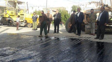 پایان ترمیم کانال و آسفالت خیابان هفت تیر توسط پرسنل زحمتکش شهرداری
