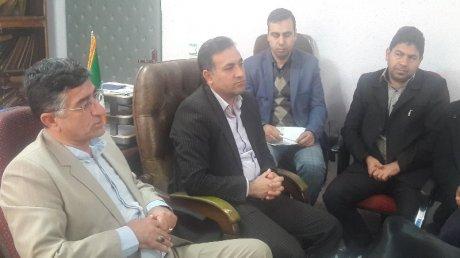 حضور آقای کاظمی نماینده شهرستان پلدختر در جمع پرسنل شهرداری و بازدید از پروژه های عمرانی فعال شهرداری
