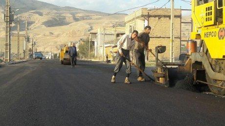 آسفالت خیابان بین میدان امید و میدان شهدا