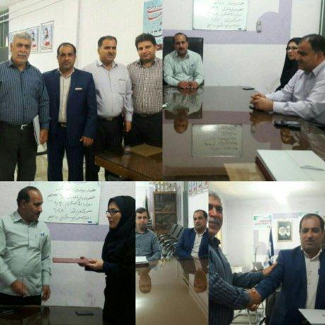به مناسبت هفته دولت وروز کارمند تجلیل از کارمندان شهرداری پلدختر