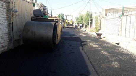 آسفالت کوچه های معلم منطقه سازمانی پلدختر