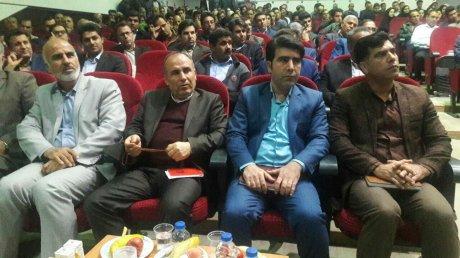 مراسم معارفه شهردار پلدختر مهندس چراغی با حضور مدیران استانی و شهرستان