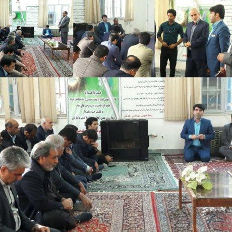 جلسه مهندس چراغی شهردار با پرسنل شهرداری