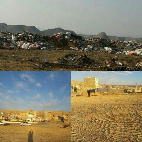 جمع آوری نخاله های ساختمانی جنب میدان امید و انتهای خیابان طلوع توسط شهرداری پلدختر