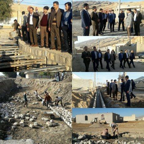 بازدید اعضای محترم شورای اسلامی شهر از روند پروژه های عمرانی