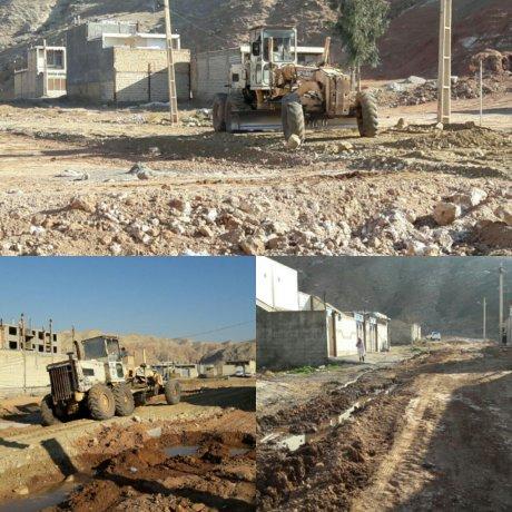 زیرسازی واماده سازی خیابان و کوچه های منطقه کوی بسیجیان جنب مسکن مهر