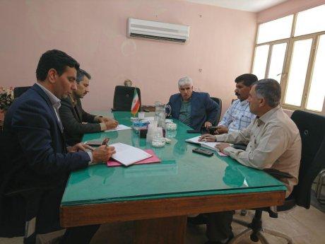 جلسه شورای شهرستان با حضور مهندس جمشیدی معاونت اداره جهاد کشاورزی پلدختر